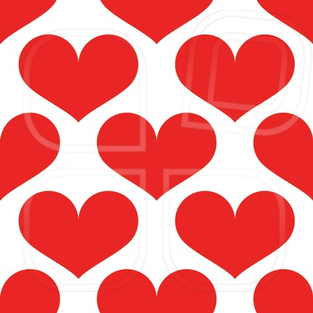Simple seamless pattern with heart