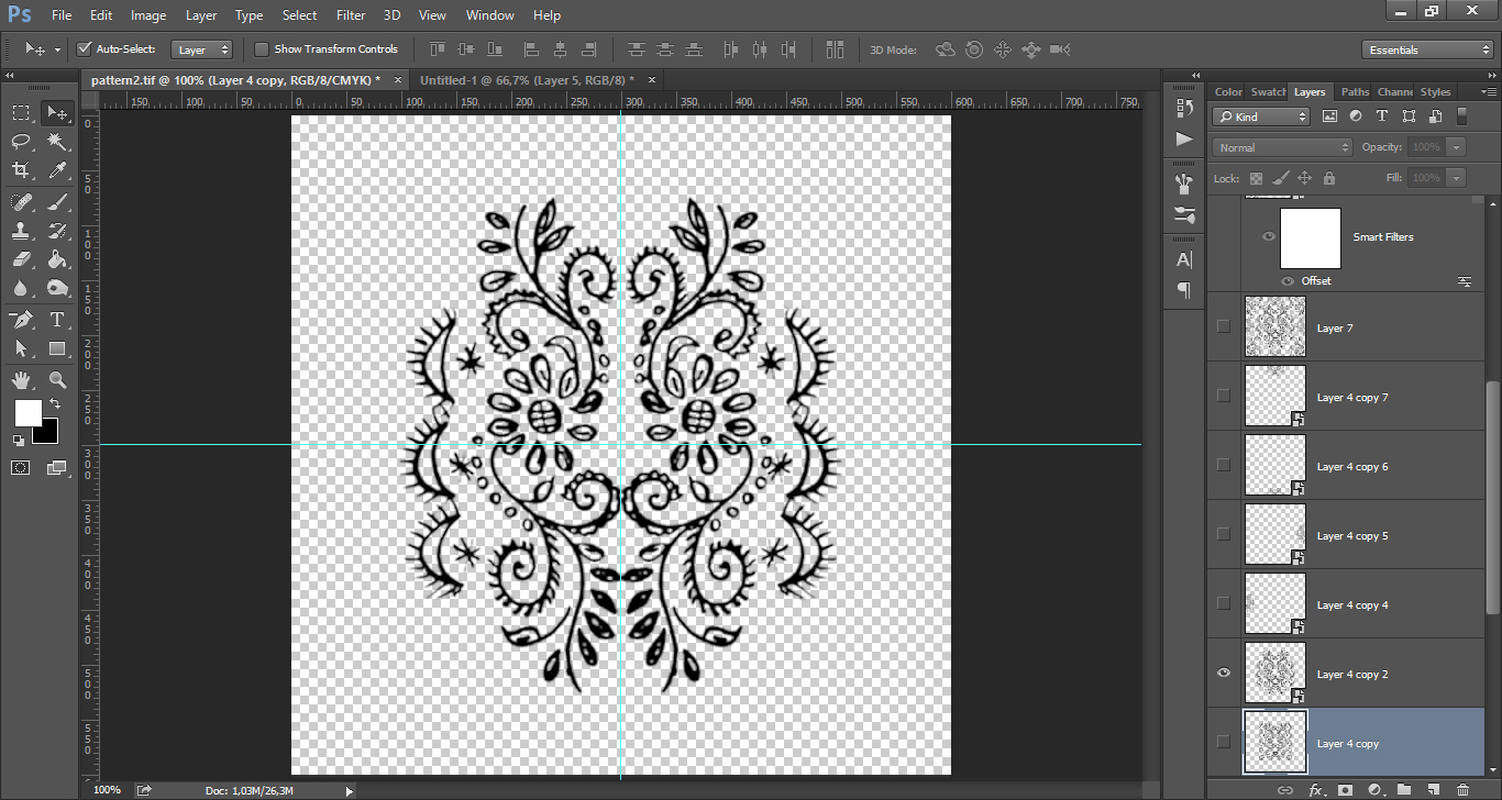, Using the Offset filter in Photoshop to create patterns | Anja De Dobbelaere, startachim blog