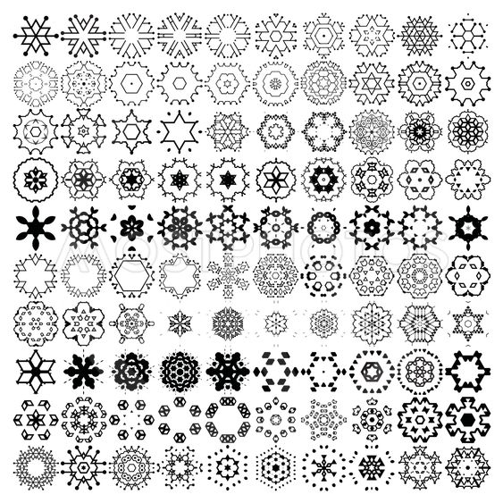 100 decorative snowflakes