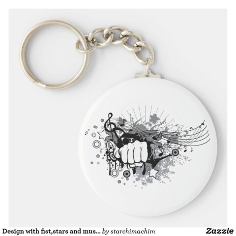 design with fist stars and musical notes on key ring r930a3690e63844209e24b1b3328ab0cd x7j3z 8byvr 1024.jpg